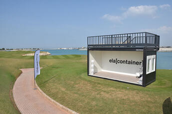 ELA Containeranlage für den Executive Golf Day in Dubai